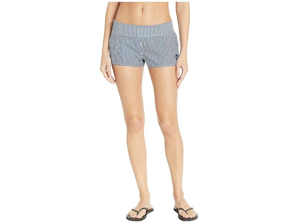 Roxy Endless Summer Printed Boardshorts (Medium Blue Cornfield Stripe) Women