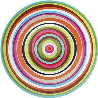 """French Bull 11"""" Melamine Dinnerware Colorful Dinner Plate - Ring"""