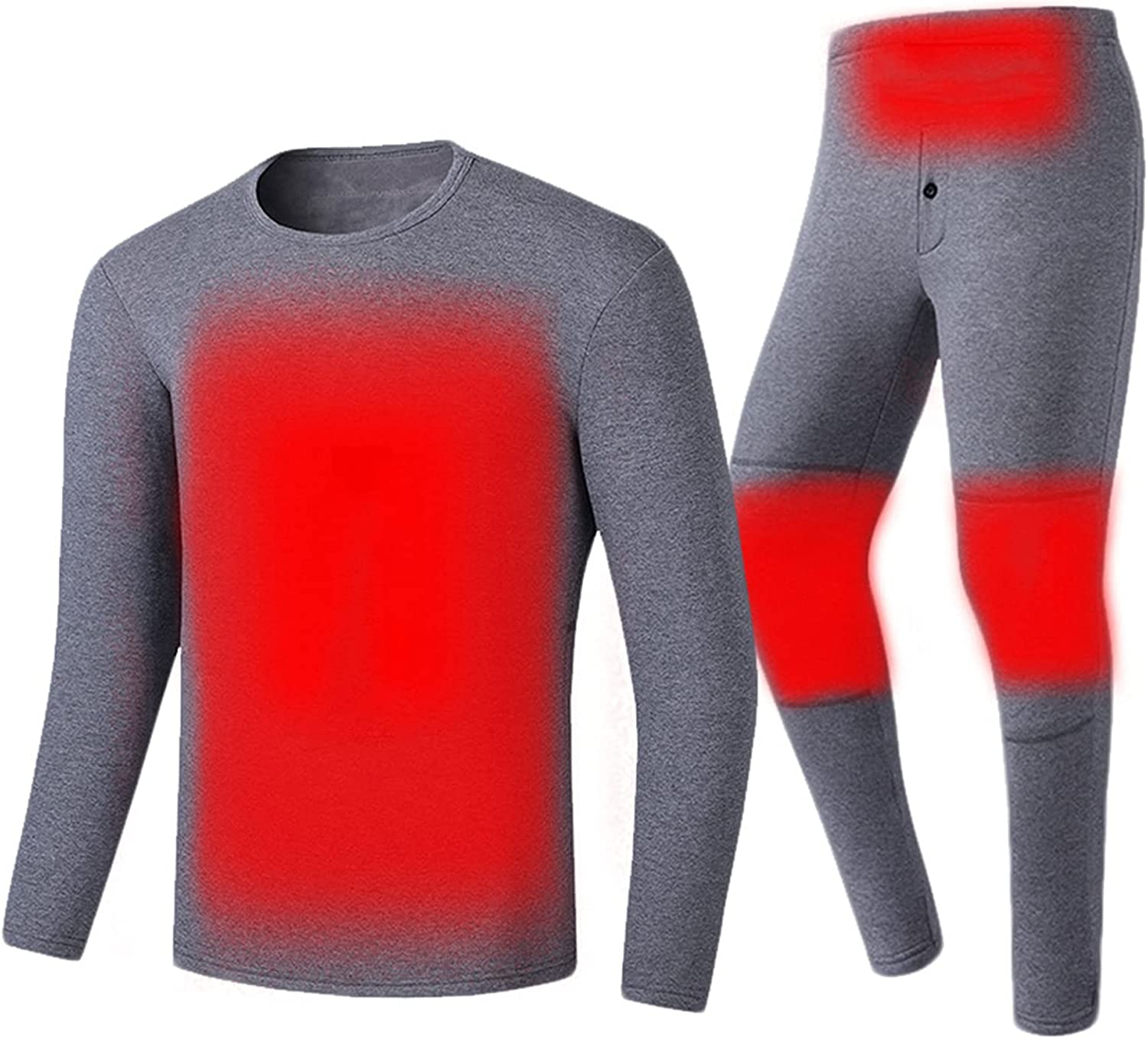 Heated Underwear Suit 4 Areas Heating Thermal Underwear Intelligence Constant Temperature Winter Shirt and Pant