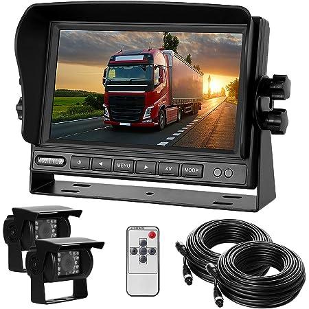 Dual Rückfahrkamera Set Mit 7 Tft Lcd Kfz Monitor Elektronik