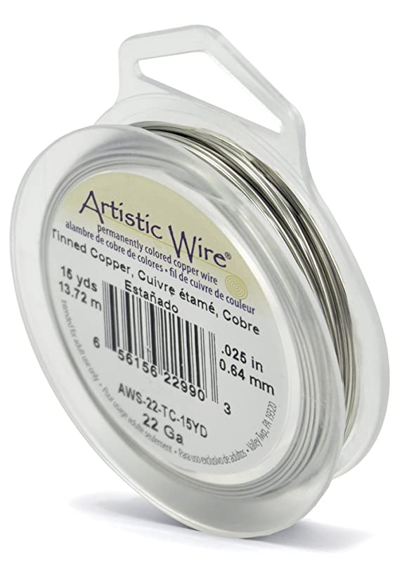 Artistic Wire 22-Gauge Tinned Copper Wire, 15-Yards