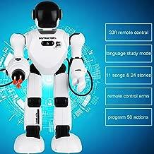 لعبة روبوت تحكم لاسلكي عن بعد روبوت تفاعلي يعمل بالتحكم عن بعد من Hi-Tech يغني، الدمارك، ترفع اليدين، تطلق الصوديبات، تعلم اللغة الإنجليزية، قل القصص العلمية