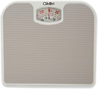 CLIKON - MECHANICAL WEIGHING SCALE, MAX WEIGHT 130kg / 300lbs, MINIMAL & CLASSIC DESIGN, RED, WHITE & BLACK INTERFACE - CK...