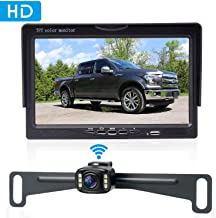 Amtifo Wireless Bakcup Camera System with 7'' Monitor for Cars,SUVs,MiniVans, Pickups, HD 720P Adjustable Rear View/Front View Camera Super Night Vision,IP69 Waterproof