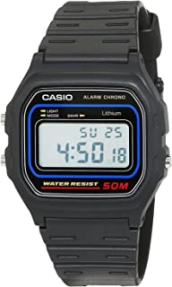 Casio W-59-1 Black Resin Classic Retro Style Unisex Digital Watch