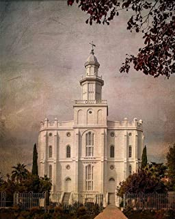 Posterazzi Collection LDS St. George Temple Poster Print by Ramona Murdock (10 x 8)
