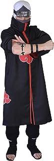 DAZCOS US Size Unisex Akatsuki Cloak Robe Cosplay Costume Embroidery Edition
