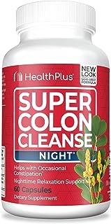 Health Plus Super Colon Cleanse, Night Formula Capsules, 60-Count