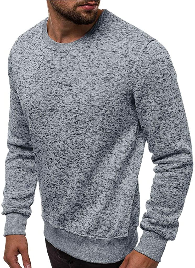 WINJIN Sweat-Shirts Homme,Haut,Pollover,Les Hommes Chauds dhiver /à Manches Longues Pull Sweat Top Tee Outwear Blouse Hoodie Streetshirt Veste Tops Hommes Sweater Blouse