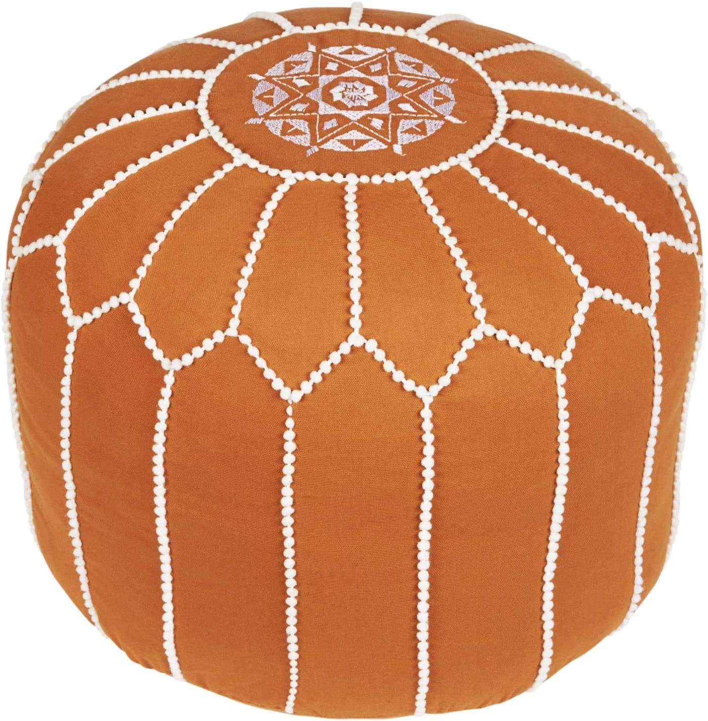 Woven St. 100% Cotton Morrocan Filled Pouf Oklahoma Ranking TOP10 City Mall Footrest Ottoman