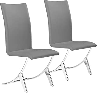 Zuo Delfin Dining Chair (Set of 2), Gray