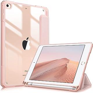 جراب Fintie Hybrid Slim لجهاز iPad Mini 5 2019 / iPad Mini 4 - [حامل قلم مضم] غطاء مضاد للصدمات مع غلاف خلفي شفاف شفاف، Au...