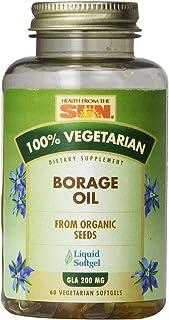 Nature's Life Borage Oil Vegetarian, Vegan Softgel (Btl-Plastic) 1000mg | 60ct