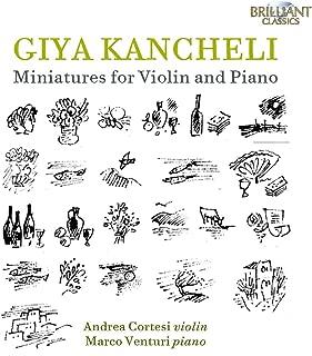 giya kancheli miniatures for violin and piano