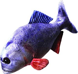 Wild Republic Living Stream Piranha 12 Inches, Gift for Kids, Plush Toy, Great Novelty Gift for Fishermen and Sportsmen