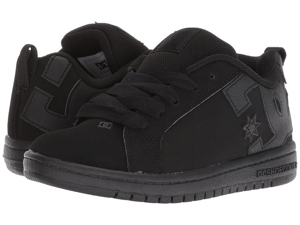 DC Kids Court Graffik (Little Kid/Big Kid) (Black/Black) Boys Shoes