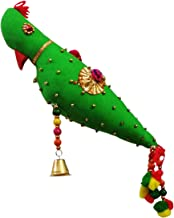 PAARTHA SAARTHI Rajasthani Handcrafted Traditional Decorative Auspicious Unique Parrot Door/Wall Hanging (Multicolour)