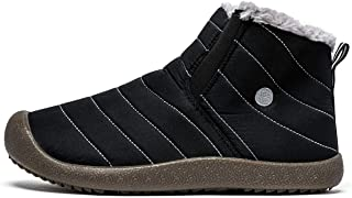 Winter Shoes Snow Boots for Men Waterproof Casual Slip on Cloth Sneakers Anti-Slip Lightweight Ankle Booties Full Fur