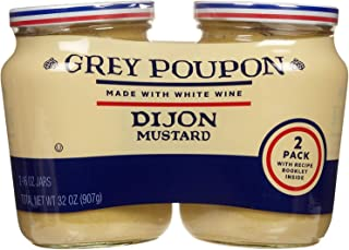 Grey Poupon Dijon Mustard 2 Pack 16oz each total 32oz