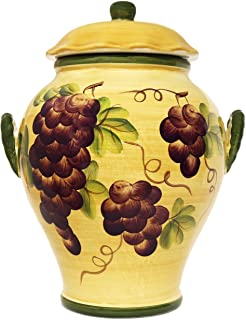 COOKIE JAR, CANISTER TUSCANY GRAPE WINE DECOR