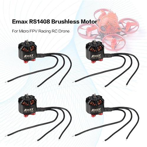 WOSOSYEYO 4 STüCKE Emax RS1408 2300KV 5-6 S Leichte Leistungsstarke Brushless Motor für Für Micro FPV Racing RC Drone Quadcopter Ersatzteile