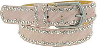 FASHIONGEN - Rhinestone and studded leather woman belt, CAPUCINE