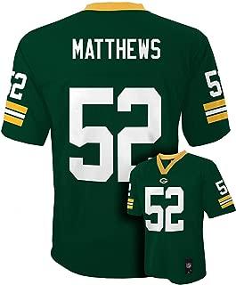 Clay Matthews Green Bay Packers Green NFL Kids 2016-17 Season Mid-tier Jersey (Kids 5/6)