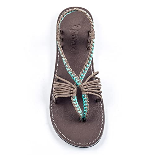 6065ed72853adc Plaka Flat Sandals for Women Seashell