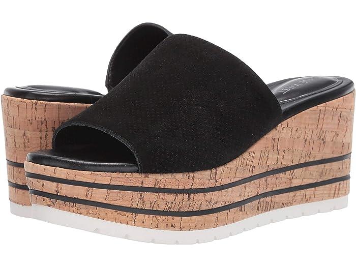 nine west black platform sandals