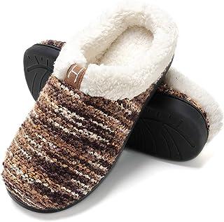 Zapatillas de casa Hombre, Forro algodón, Ultraligero cómodo y Antideslizante, Pantuflas de casa para Hombre