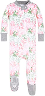 Baby Girls Sleeper Pajamas, Zip Front Non-Slip Footed...