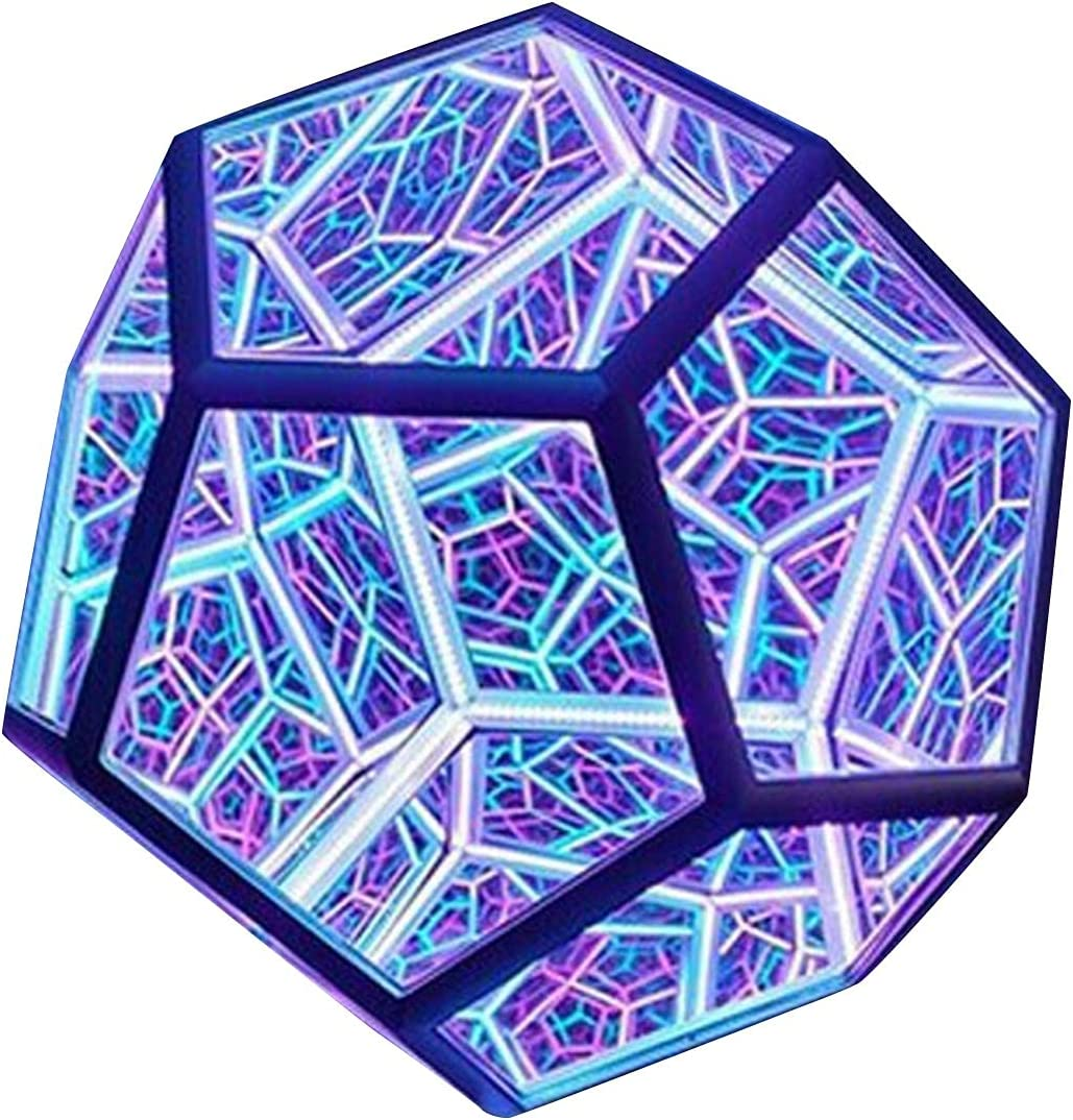 XUANOU Infinite Dodecahedron Color Art Light USB LED Sale Special Price Night Special sale item