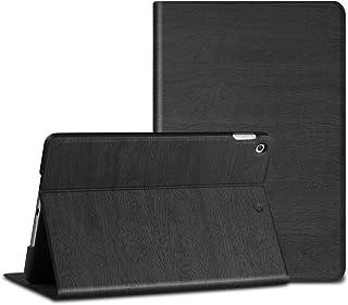 BIGKON ipad 第9/8/7世代 (2021, 2020, 2019) カバー ipad 10.2インチ ケース 手帳型 オートスリープ/ウェイク機能対応 角度調節可能な鑑賞スタンド 傷防止 ハードカバー 二つ折りスタンド(ブラック)