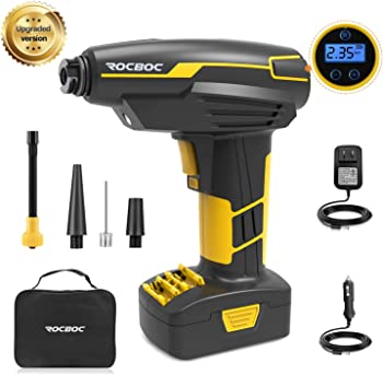 Rocboc Rechargeable Cordless Tire Inflator