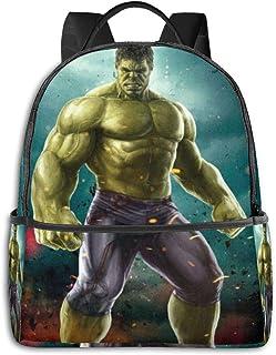 Adhyr Mochila Hulk, para Estudiantes Adolescentes, niños y niñas, Libro de Viaje, Camping.
