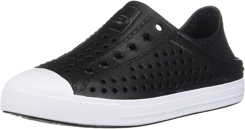 Skechers Price Bargain reduction Boy's Foamies Guzman Steps-Aqua Surge Black Sneaker 3