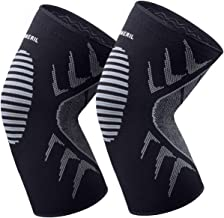 OMERIL Knee Supports, 2 Pack Breathable Knee Compression