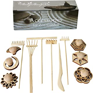 BangBangDa Mini Zen Garden Accessories - Tabletop Zen Garden Tools - Zen Garden Kit Rakes and Zen Stamp for Office Mini Ze...