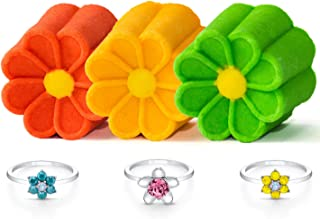 Fragrant Jewels Daisy Bubble Bar Trio (3 Pieces) with Collectible Rings (Size 5-10)