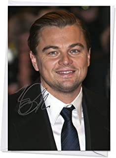 Leonardo DiCaprio 1 - Quality Greeting Card for any Occasion (Birthday, Christmas, Thank you, Engagement, Anniversary etc)