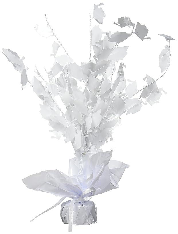 Graduate Cap Gleam 'N Burst Centerpiece (white) Party Accessory  (1 count) (1/Pkg)