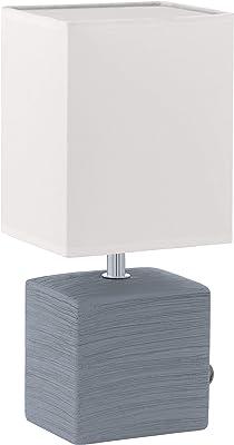 Eglo Lampe 93044Vase, Céramique, E14, Gris