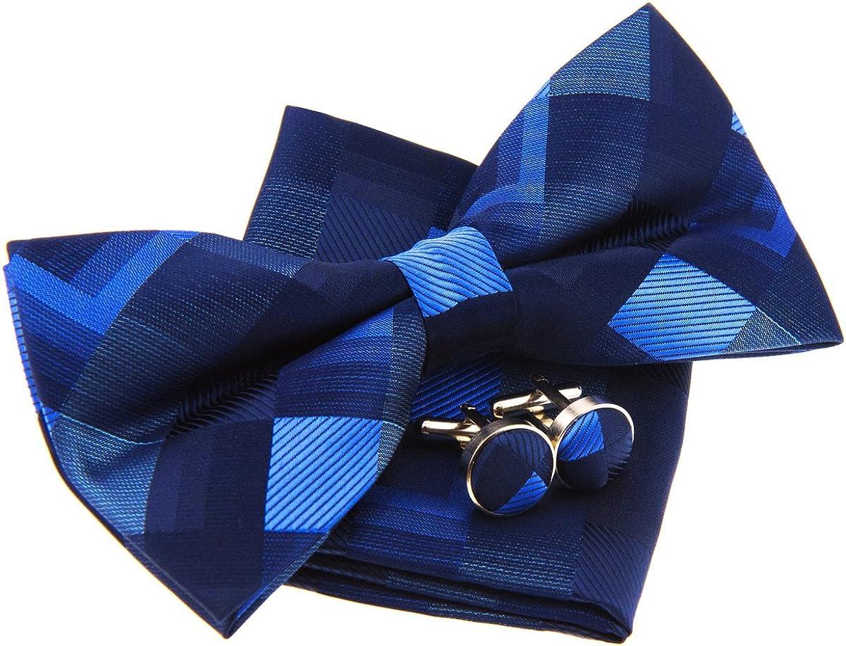 Vintage Geometric Pattern Woven Pre-tied Bow Tie (5