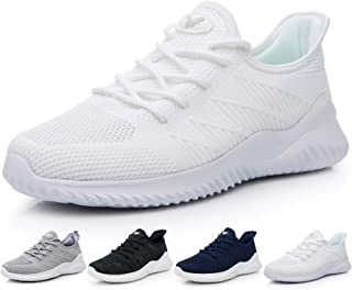 Men's Memory Foam Slip On Walking Tennis Shoes Lightweight Gym Jogging Sports Athletic Running Sneakers US7-12