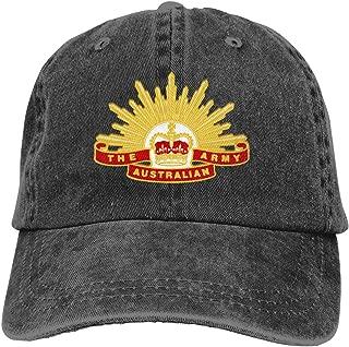 Chengduyacap Australian Army Insignia Dad Hat Denim Baseball Cap Adjustable Polo Trucker Unisex Style Headwear