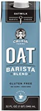Califia Farms - Oat Milk, Unsweetened Barista Blend, 32 Oz (Pack of 6) | Shelf Stable | Non Dairy Milk | Creamer | Vegan |...