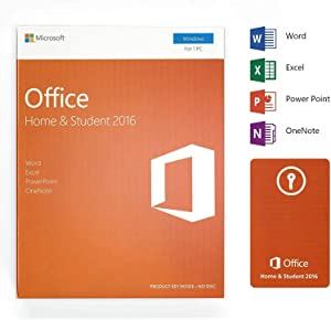 Office 2016 Home and Student - English - Lifetime License - 1 PC - Box - KeyCard - Word Excel PowerPoint OneNote - Windоws 7 / 8 / 8.1 / 10 (not macOS)