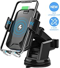 Wireless Car Charger, CHGeek 10W Qi Fast Charging Auto Clamping Car Mount Windshield..