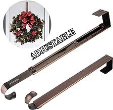 Wreath Hanger,Adjustable Length 14.9-25 Inch Metal Door Hanger,Wreath Hanger for Front Door 20 lbs Larger Christmas Wreath...