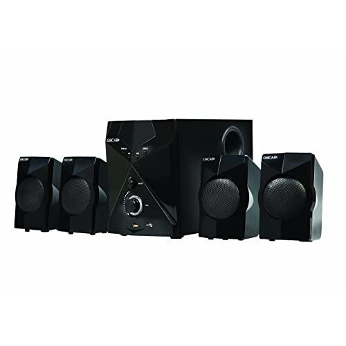 Oscar CRS17BT - 4500W PMPO 4.1 Channel Home Theatre System with Bluetooth, USB/SD Card Reader, AUX Support, Equalizer, Digital FM, Remote(Black)